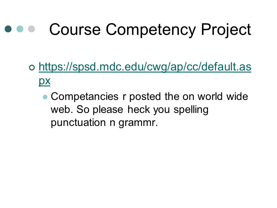 Course Competency Project