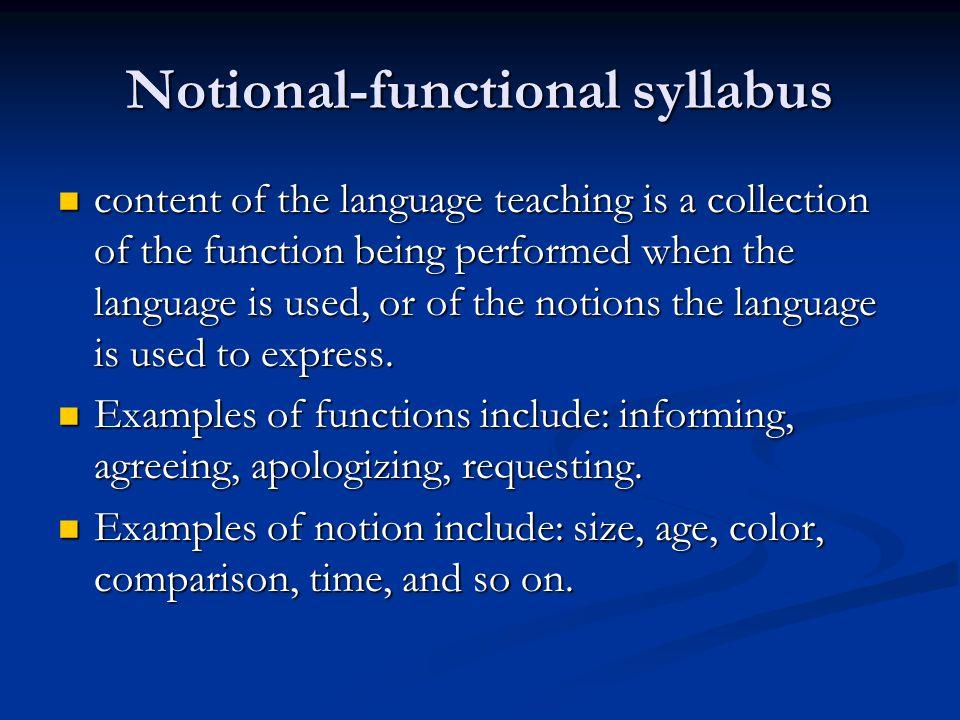 Notional-functional syllabus