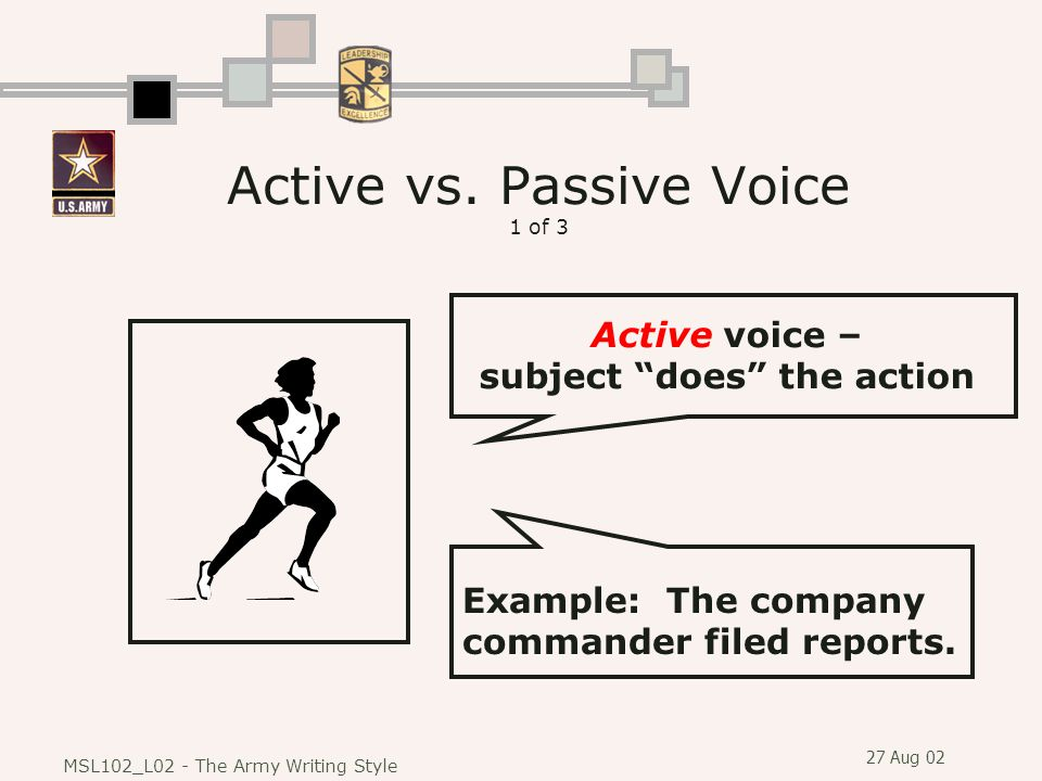 active voice vs passive voice business writing