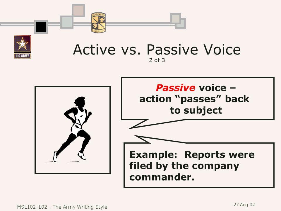 Active vs. Passive Voice 2 of 3
