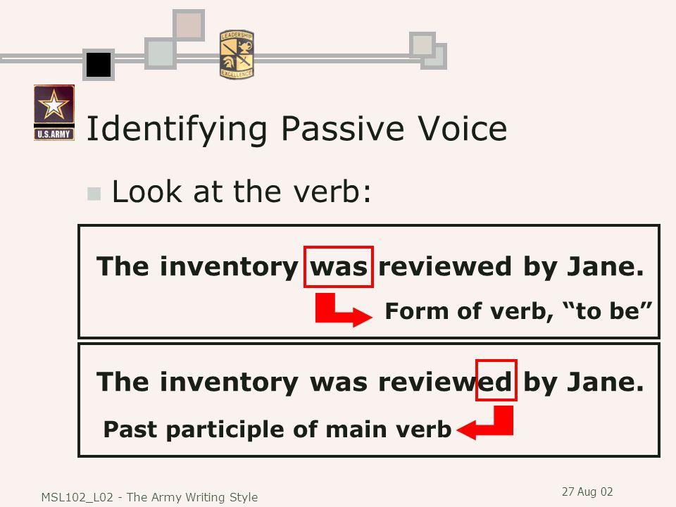 Identifying Passive Voice
