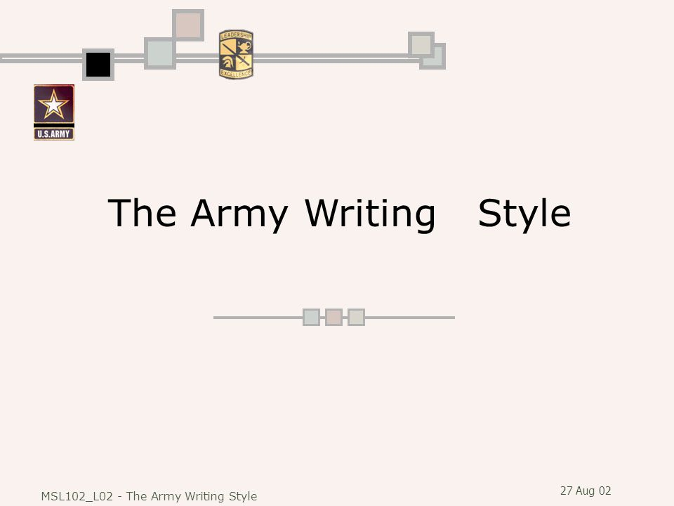 The Army Writing Style