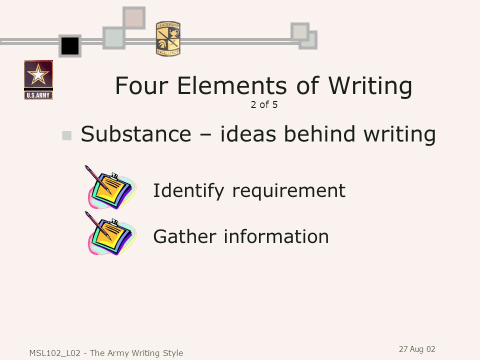Four Elements of Writing 2 of 5