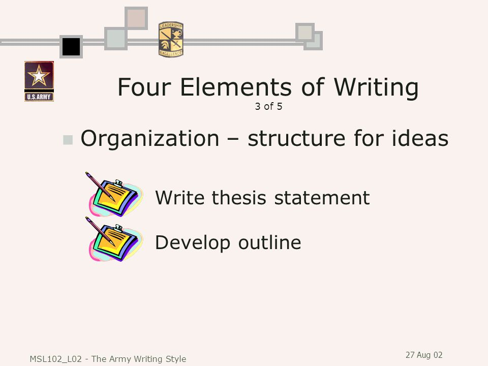 Four Elements of Writing 3 of 5