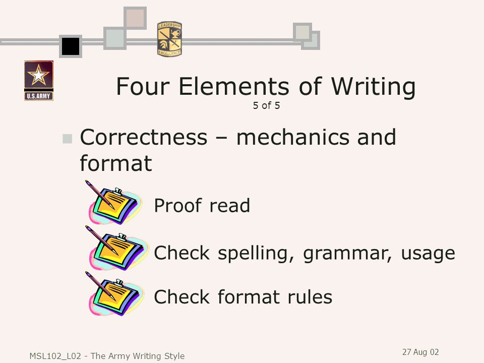 Four Elements of Writing 5 of 5