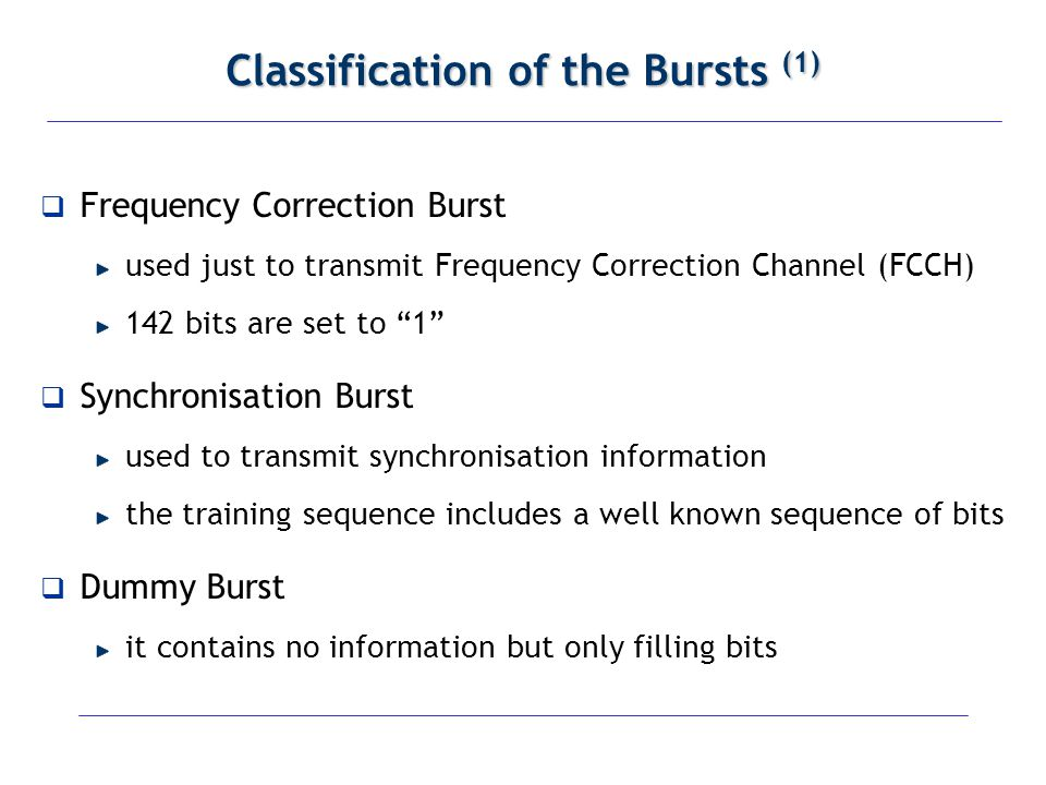 Classification of the Bursts (1)