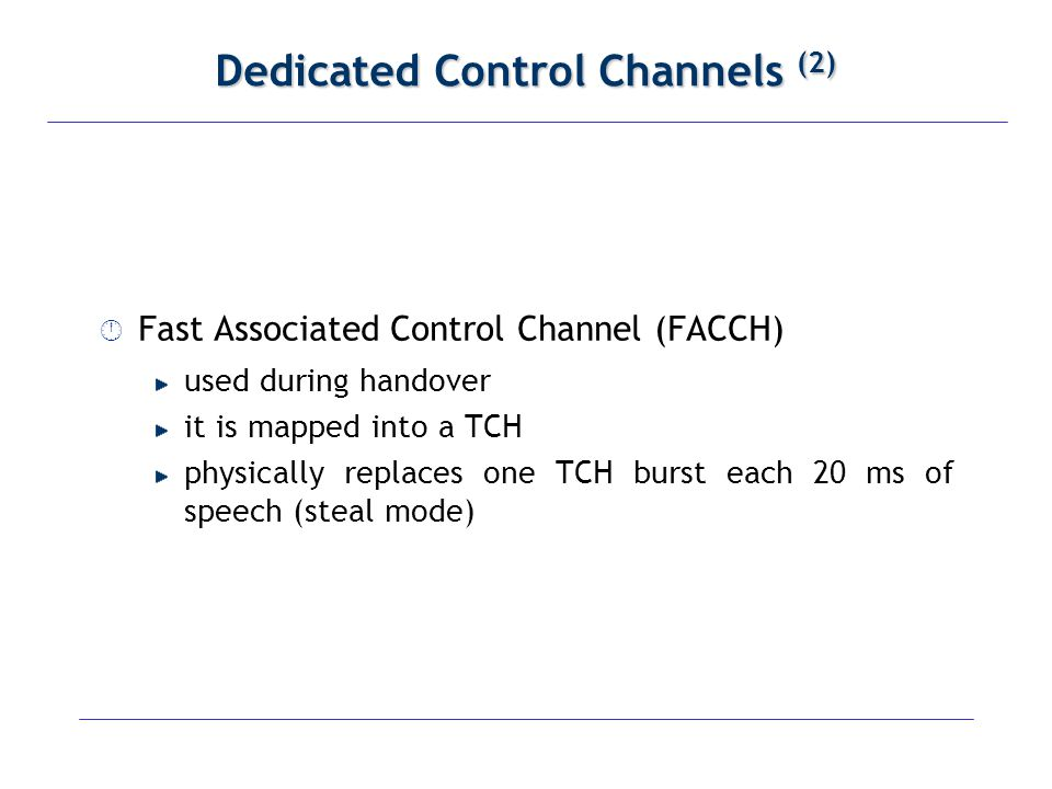 Dedicated Control Channels (2)