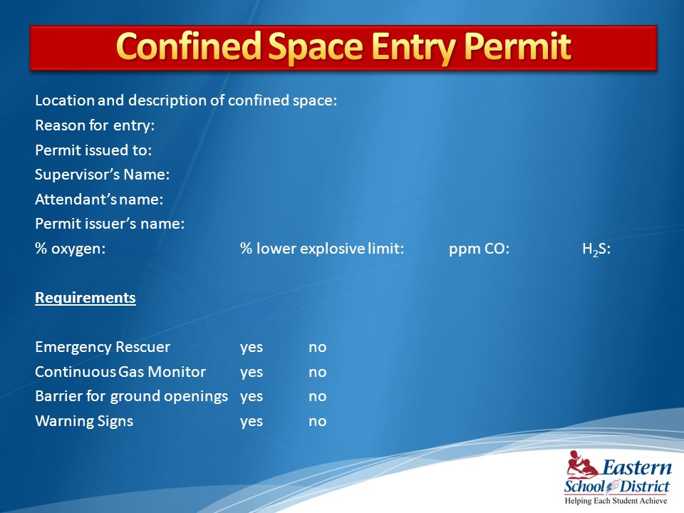 Confined Space Entry Permit