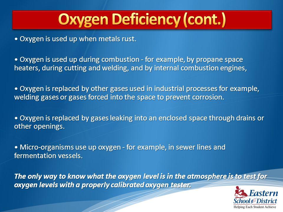 Oxygen Deficiency (cont.)
