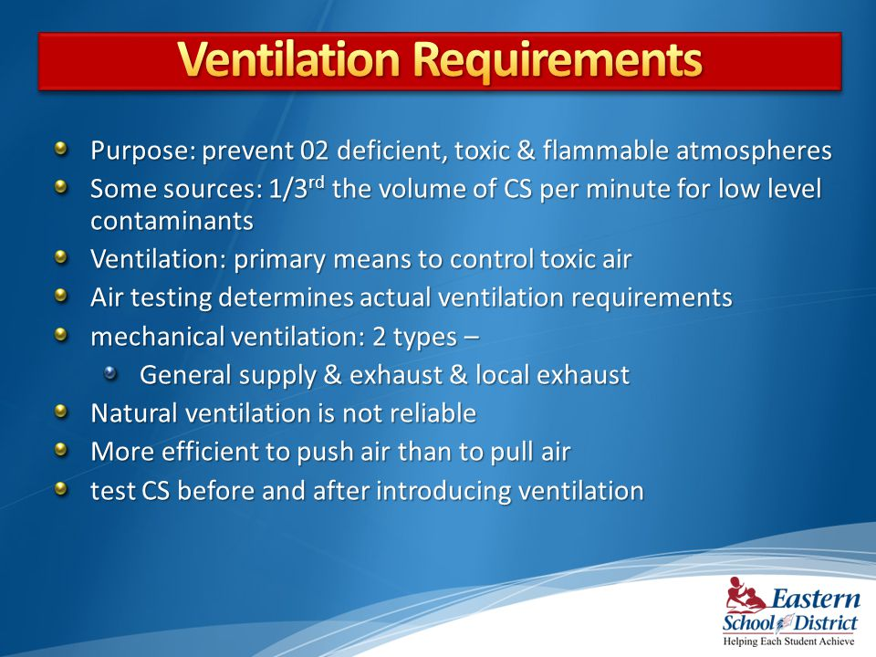 Ventilation Requirements