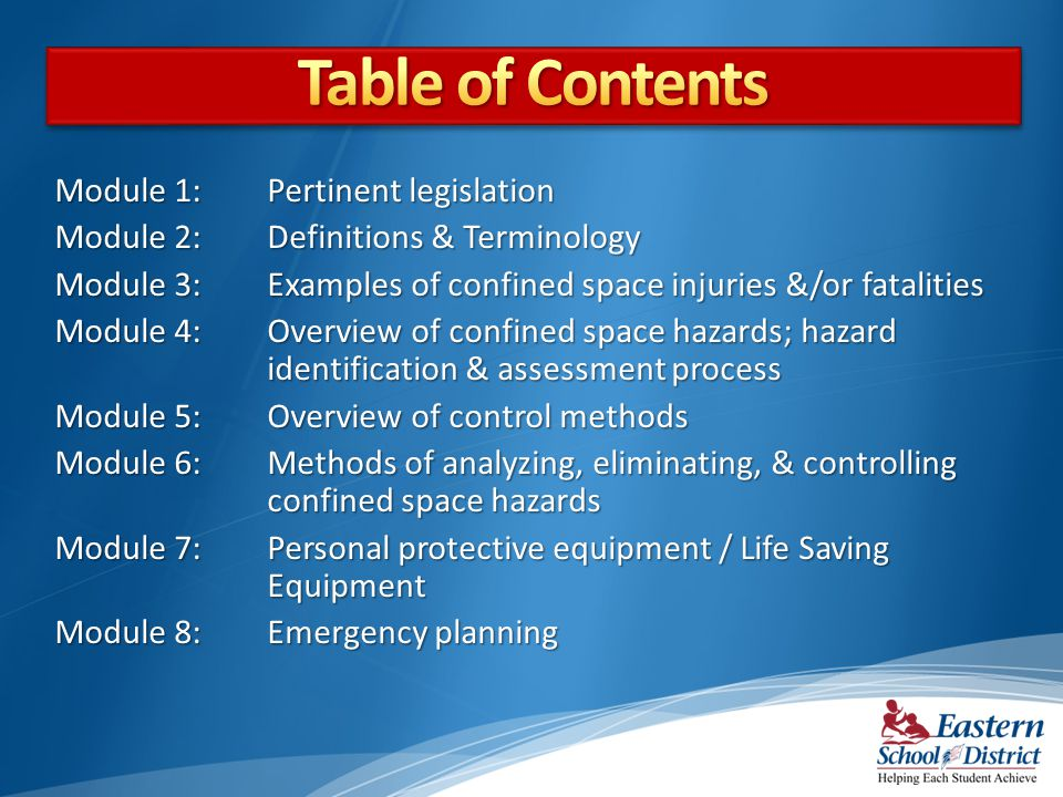 Table of Contents Module 1: Pertinent legislation