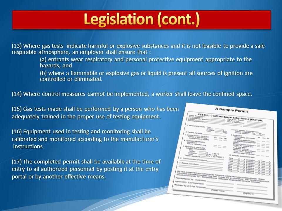 Legislation Legislation (cont.)
