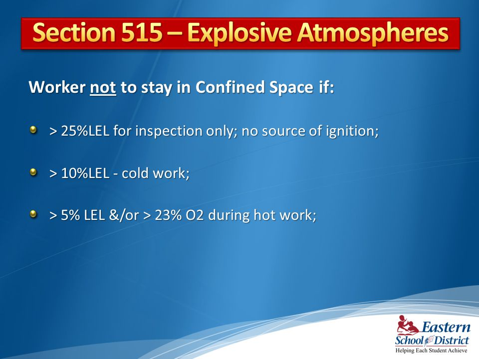 Section 515 – Explosive Atmospheres
