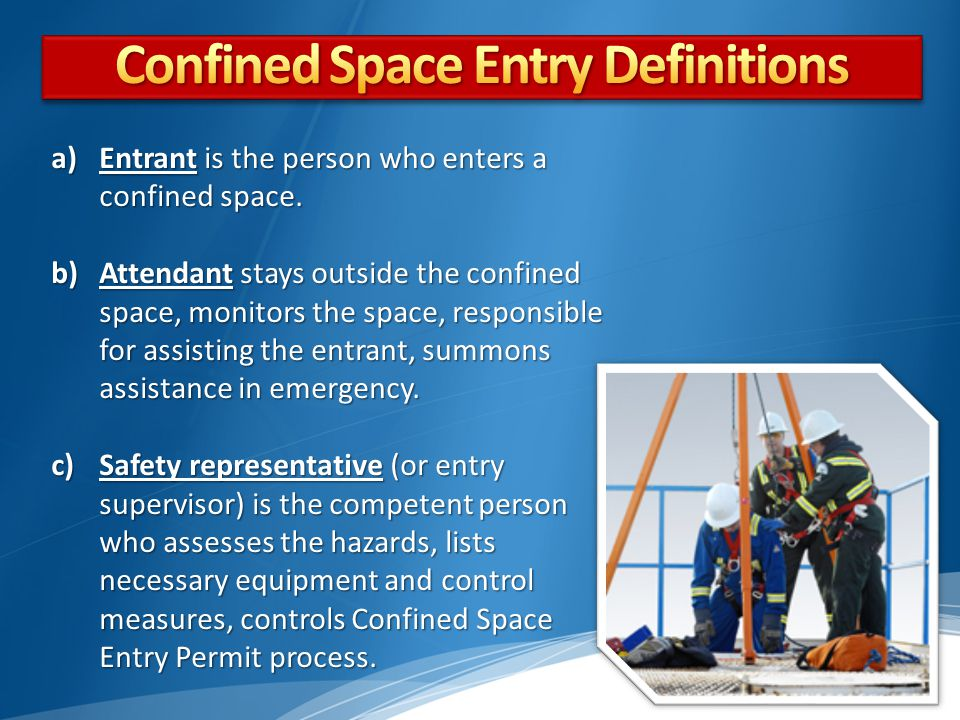 Confined Space Entry Definitions