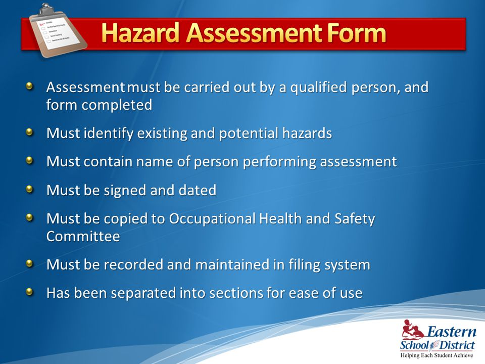 Hazard Assessment Form