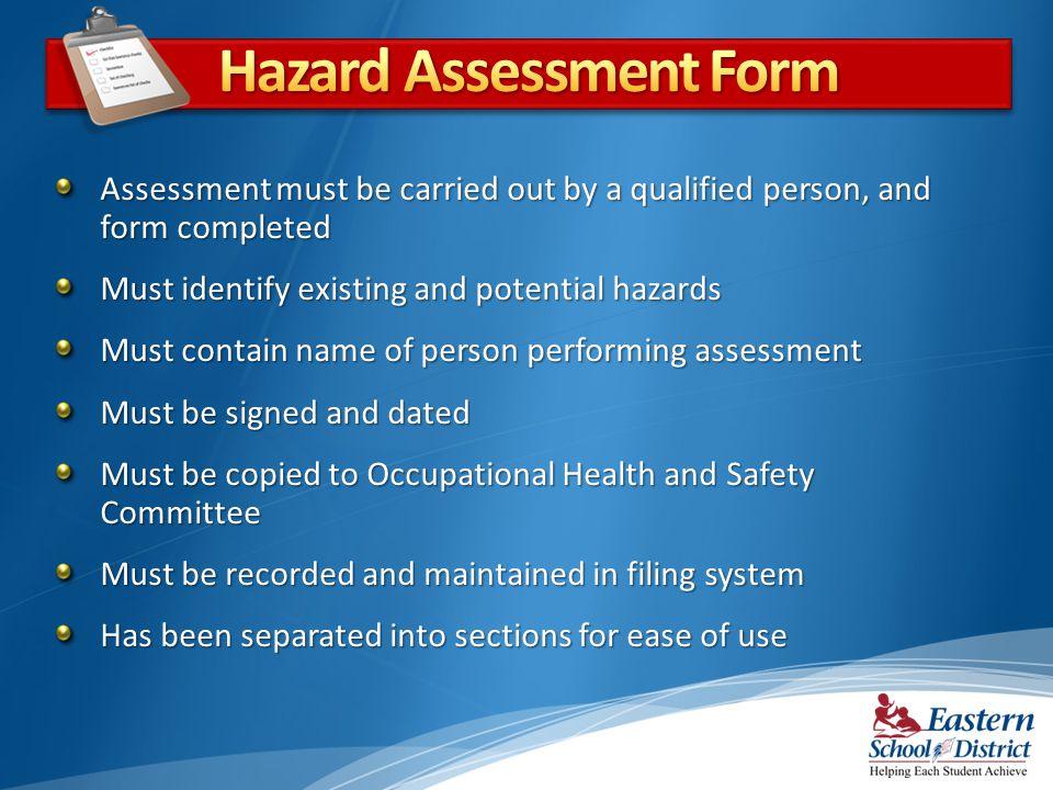 Hazard Assessment Form