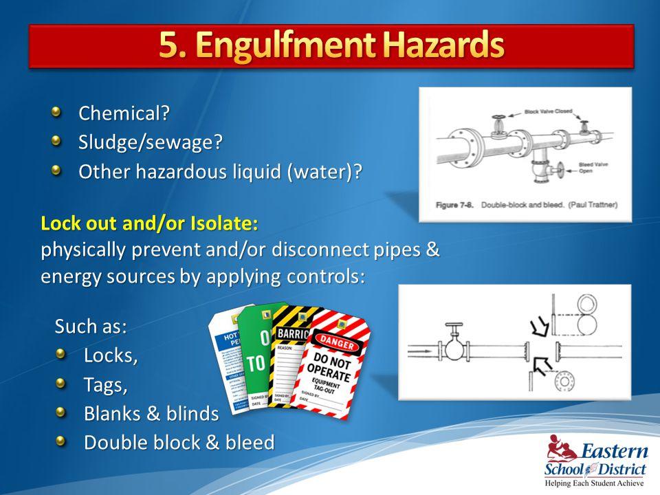 5. Engulfment Hazards Chemical Sludge/sewage