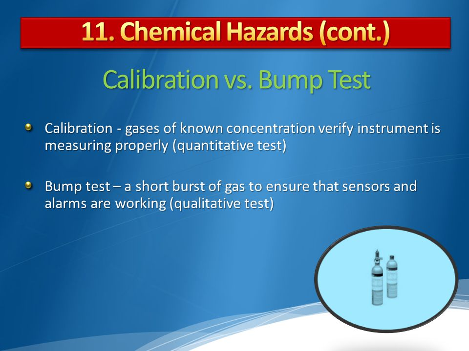 Calibration vs. Bump Test
