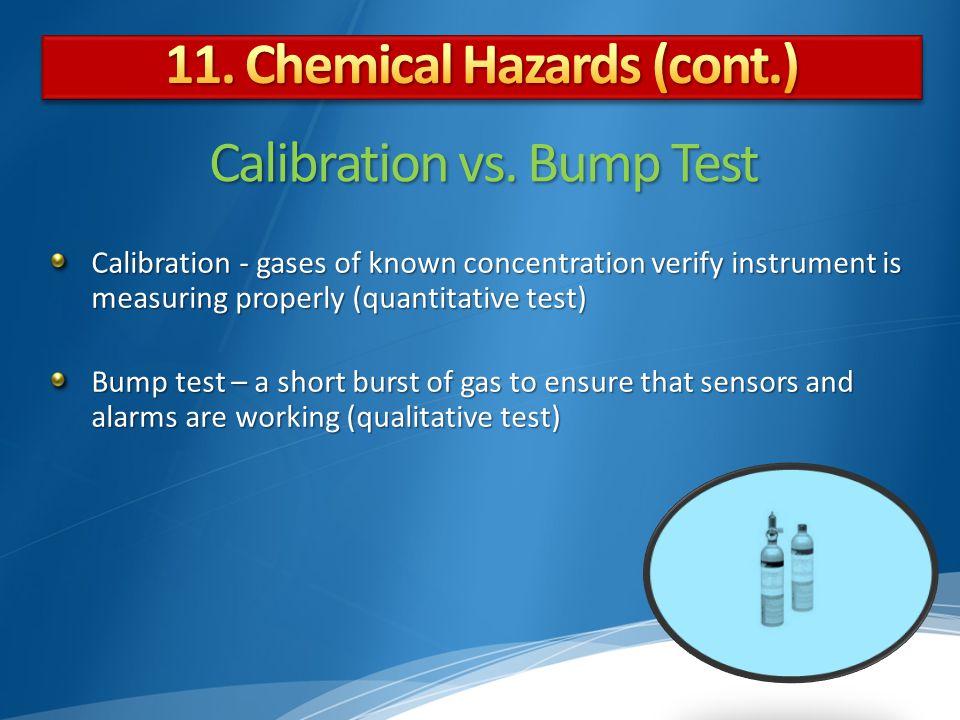 Calibration vs. Bump Test