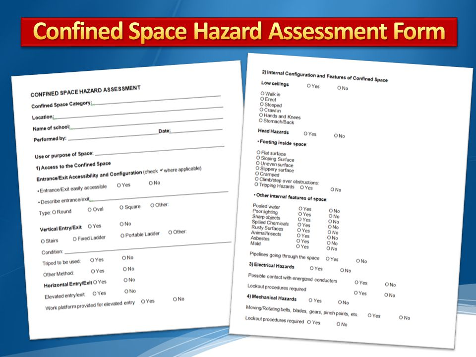 Confined Space Hazard Assessment Form