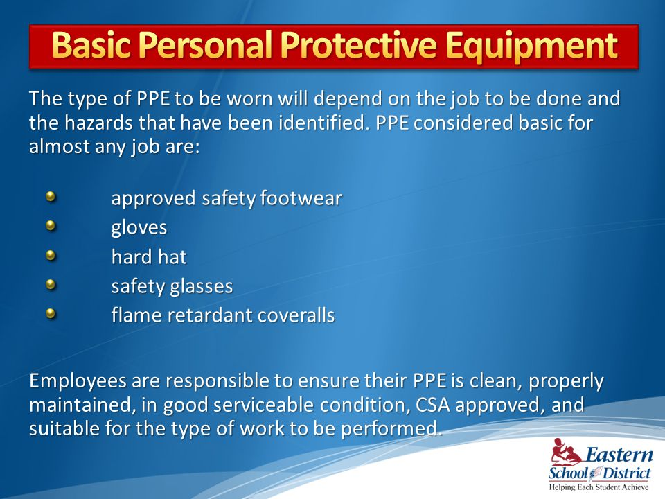 Basic Personal Protective Equipment