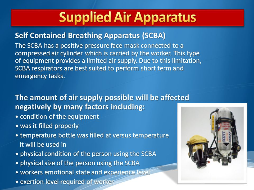Supplied Air Apparatus