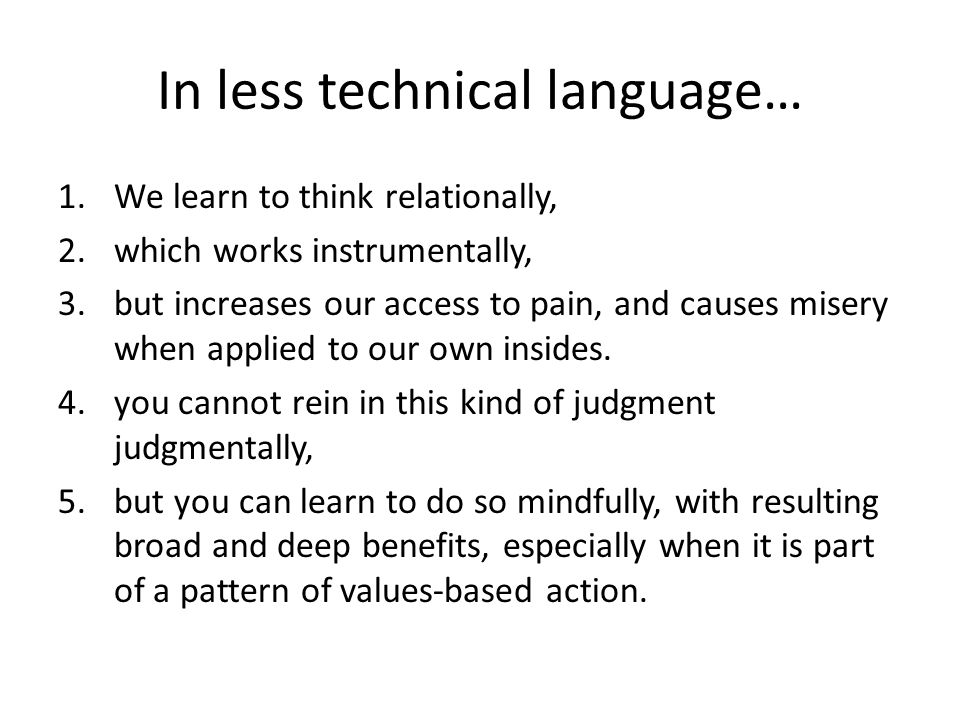In less technical language…