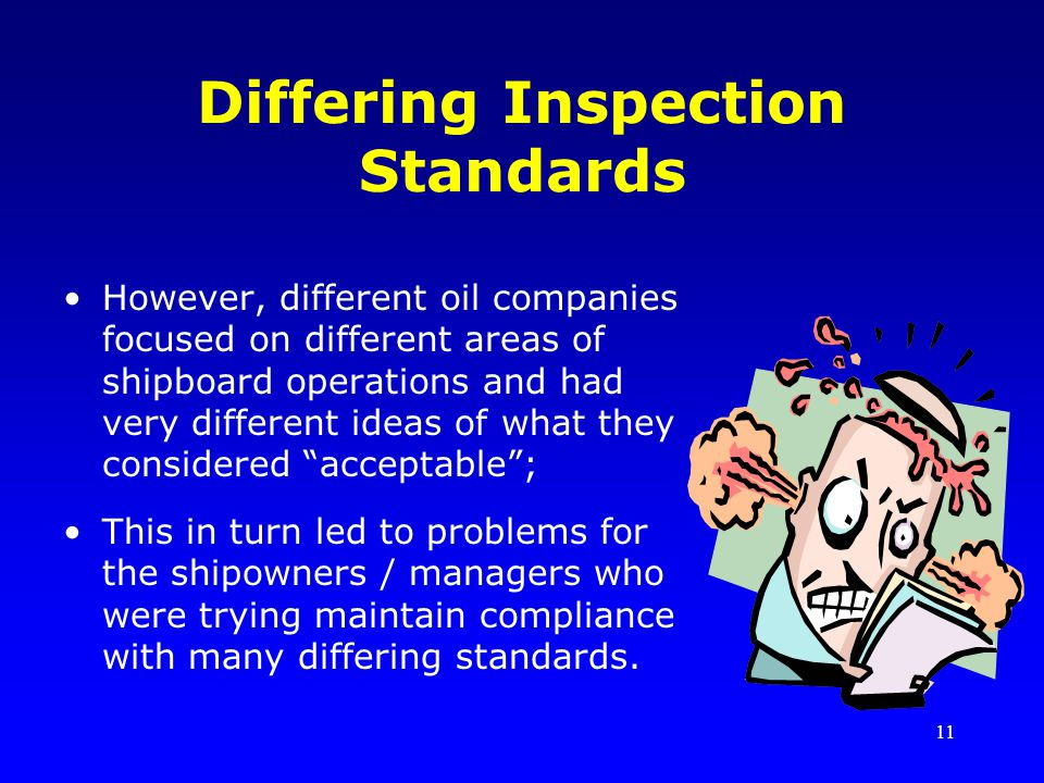 Differing Inspection Standards