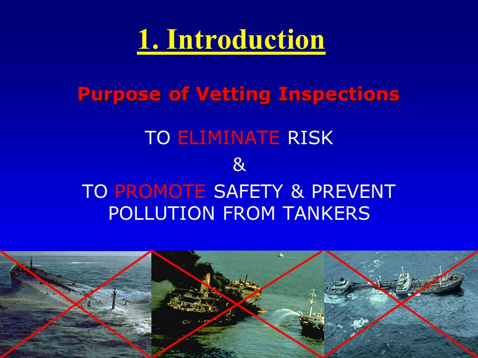 Purpose of Vetting Inspections
