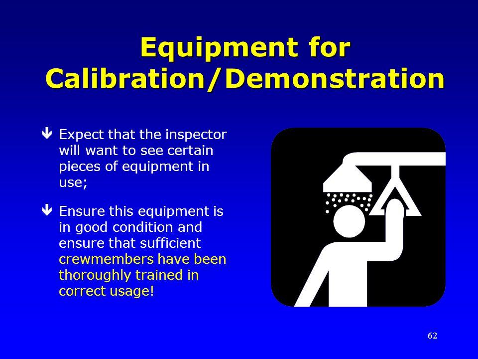 Equipment for Calibration/Demonstration