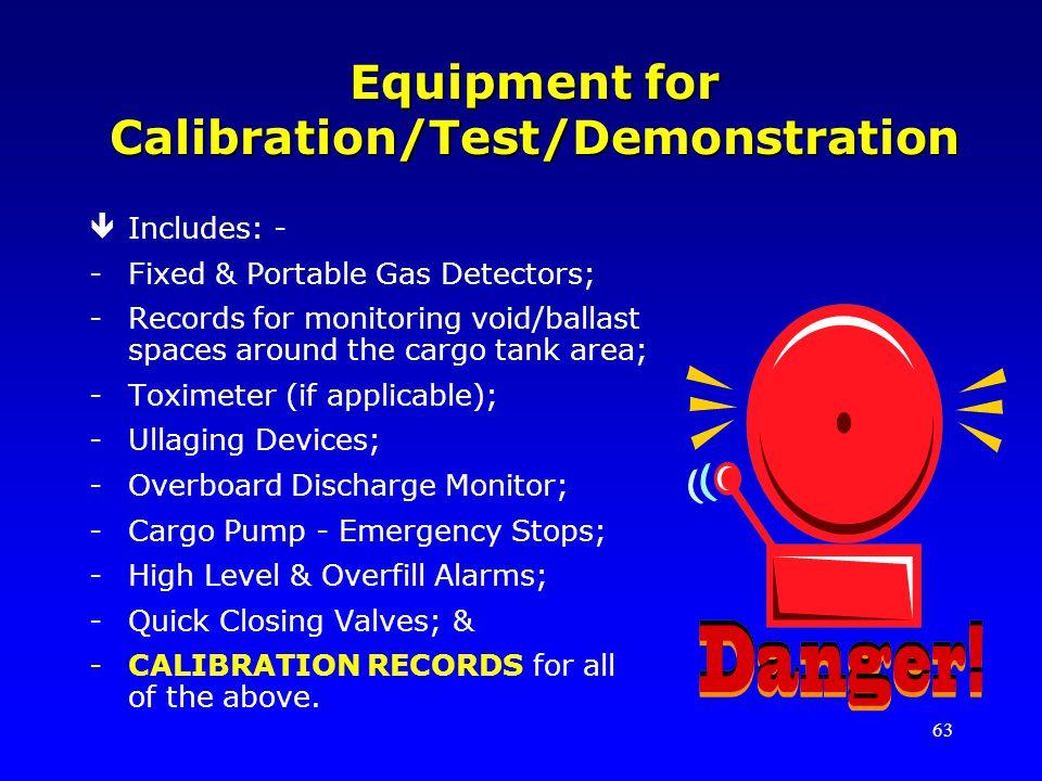Equipment for Calibration/Test/Demonstration