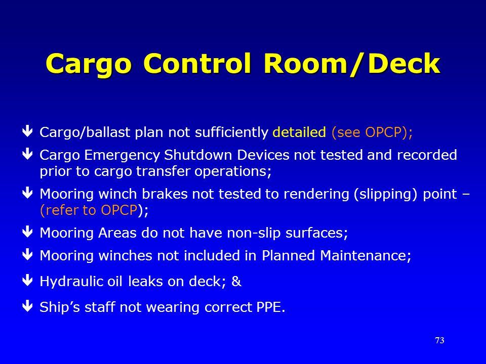 Cargo Control Room/Deck