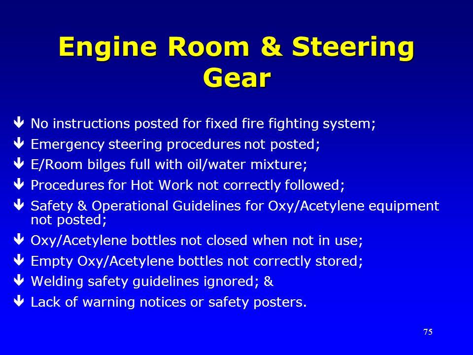 Engine Room & Steering Gear