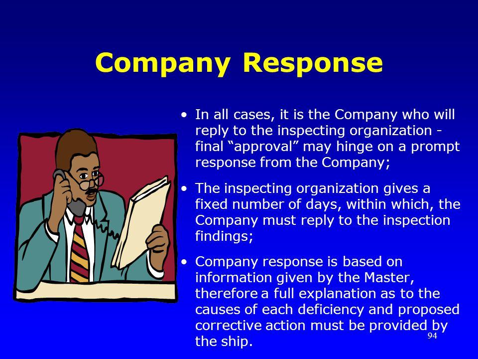 Company Response