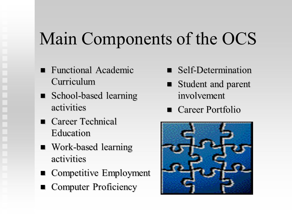 Main Components of the OCS