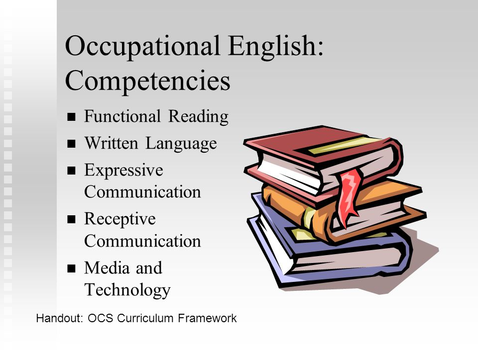 Occupational English: Competencies