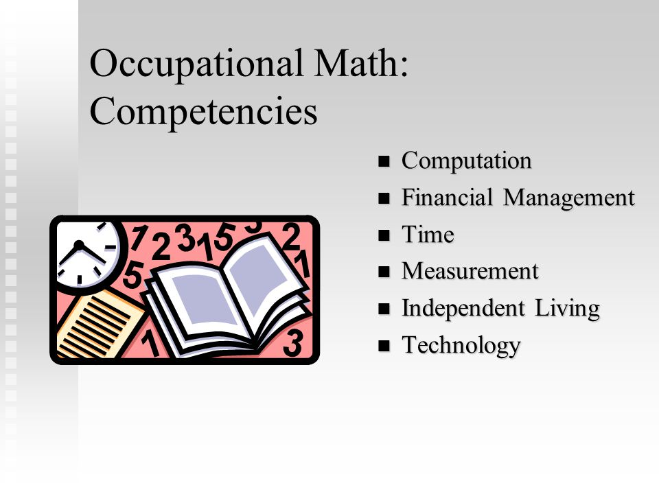 Occupational Math: Competencies