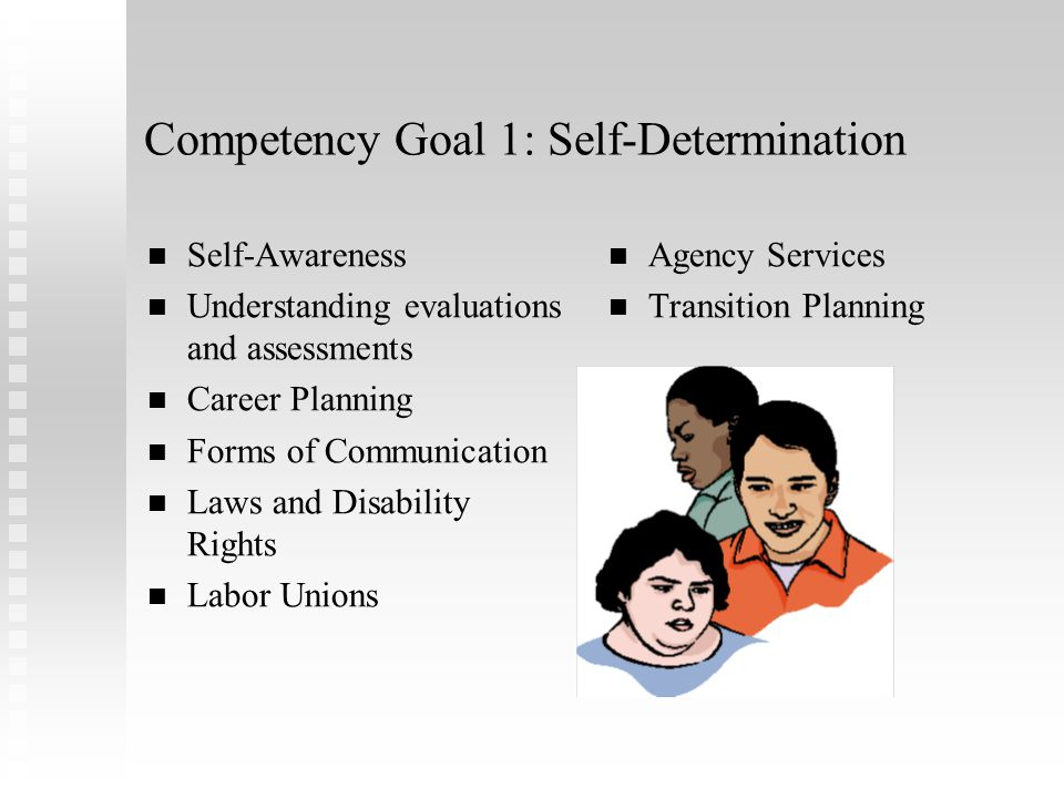 Competency Goal 1: Self-Determination