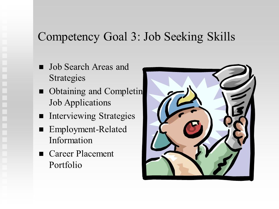 Competency Goal 3: Job Seeking Skills