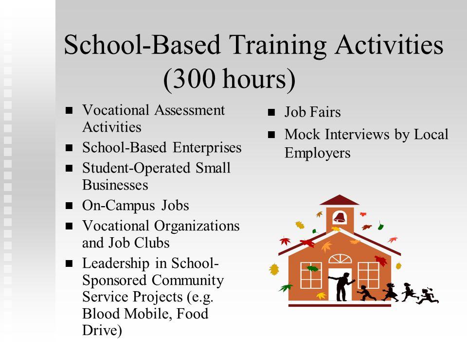 School-Based Training Activities (300 hours)