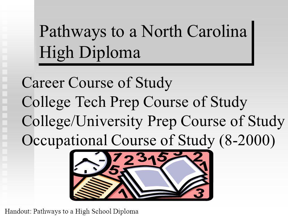Pathways to a North Carolina High Diploma