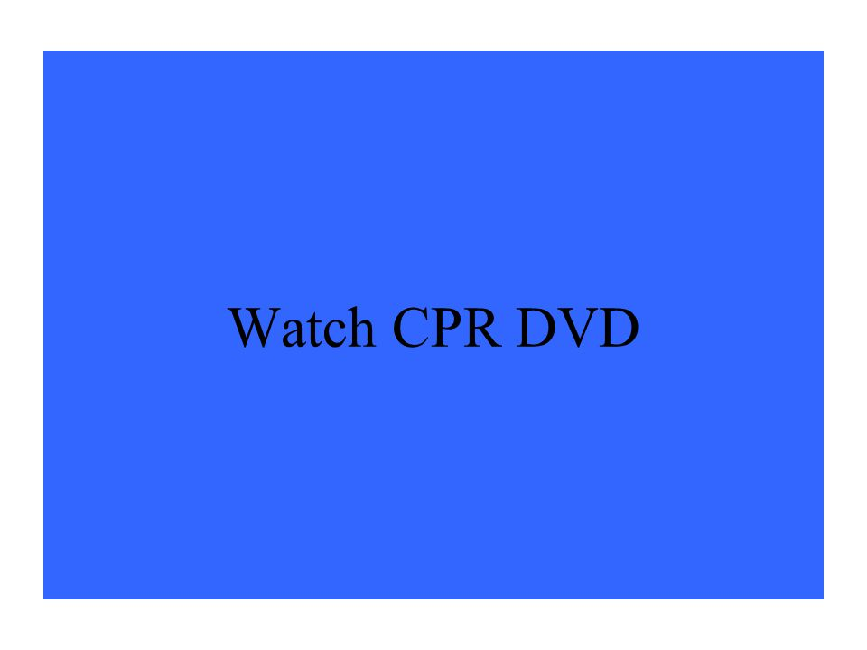 Watch CPR DVD