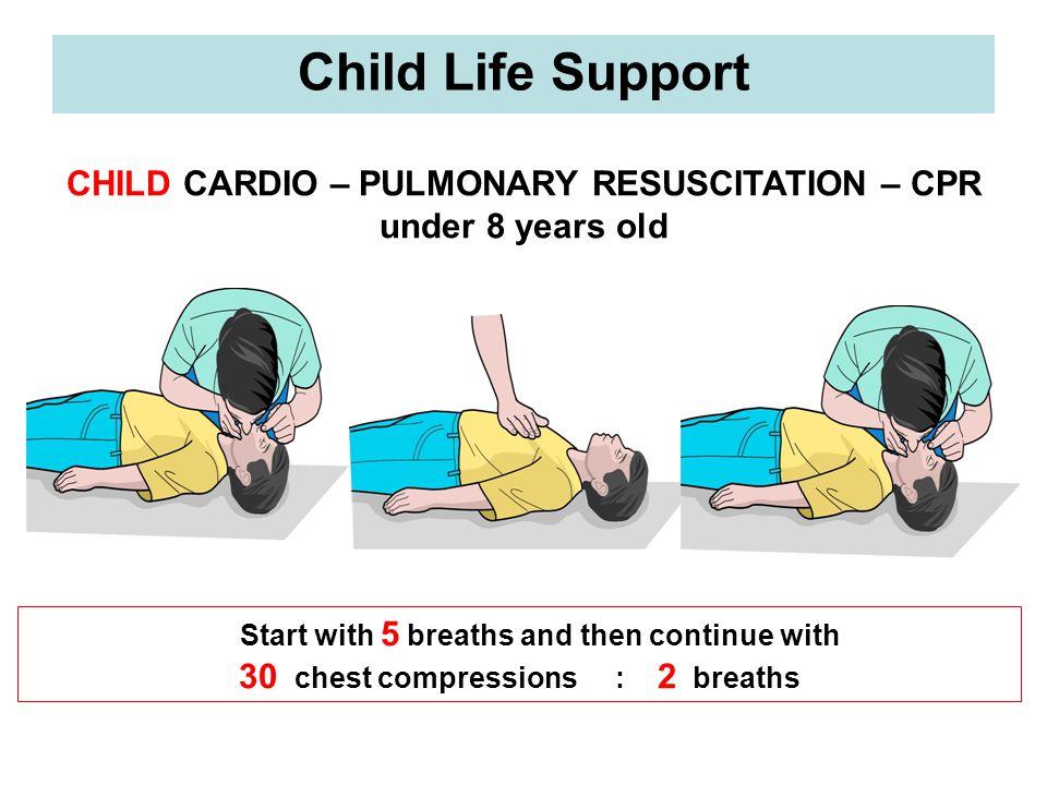 Child Life Support CHILD CARDIO – PULMONARY RESUSCITATION – CPR