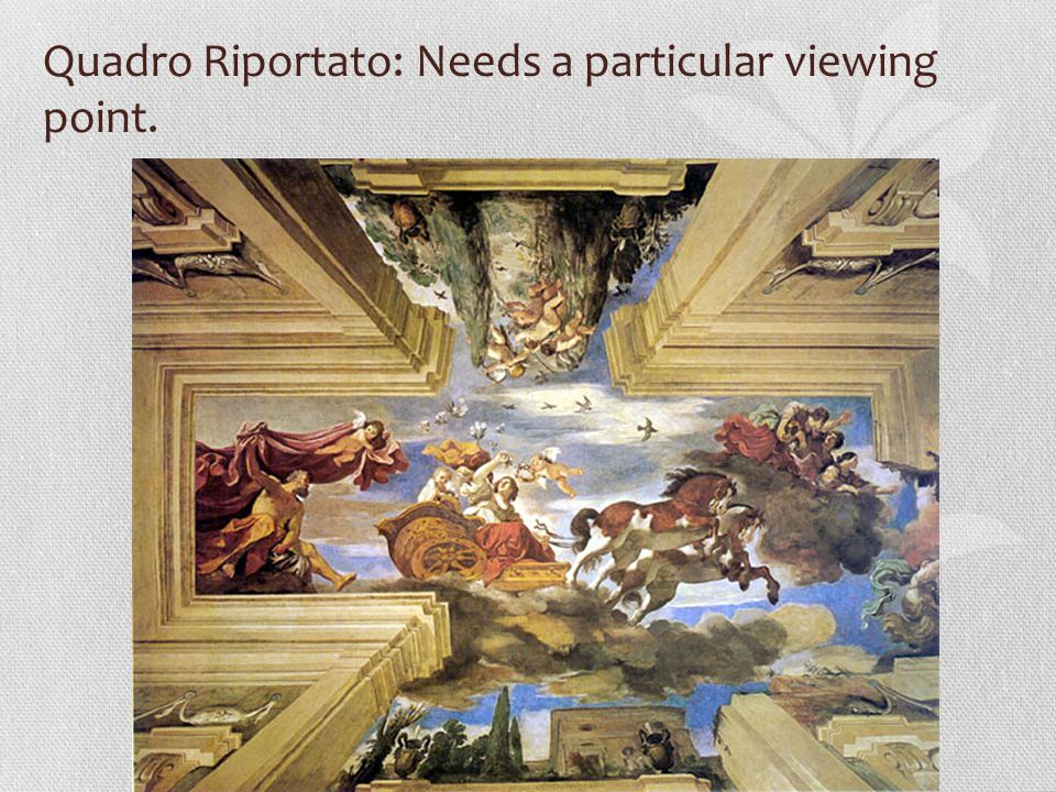 Quadro Riportato: Needs a particular viewing point.