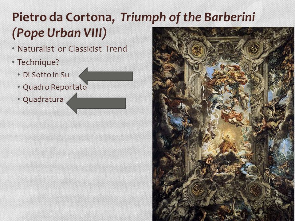 Pietro da Cortona, Triumph of the Barberini (Pope Urban VIII)