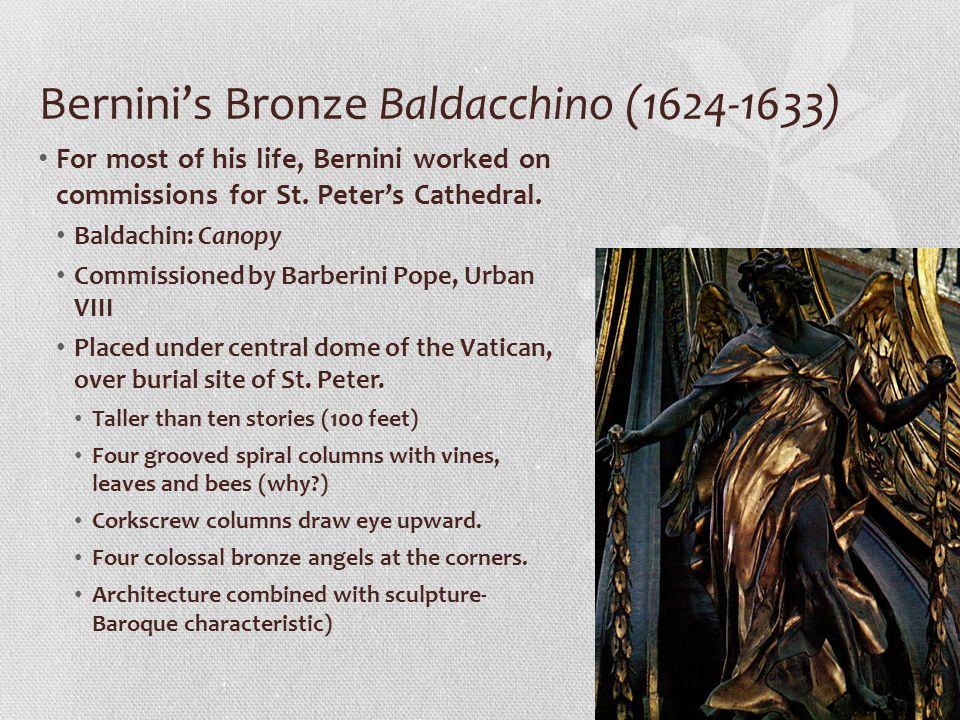 Bernini's Bronze Baldacchino (1624-1633)