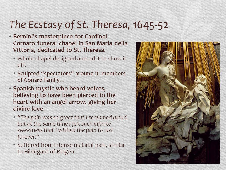 The Ecstasy of St. Theresa, 1645-52