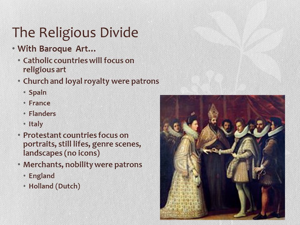 The Religious Divide With Baroque Art…