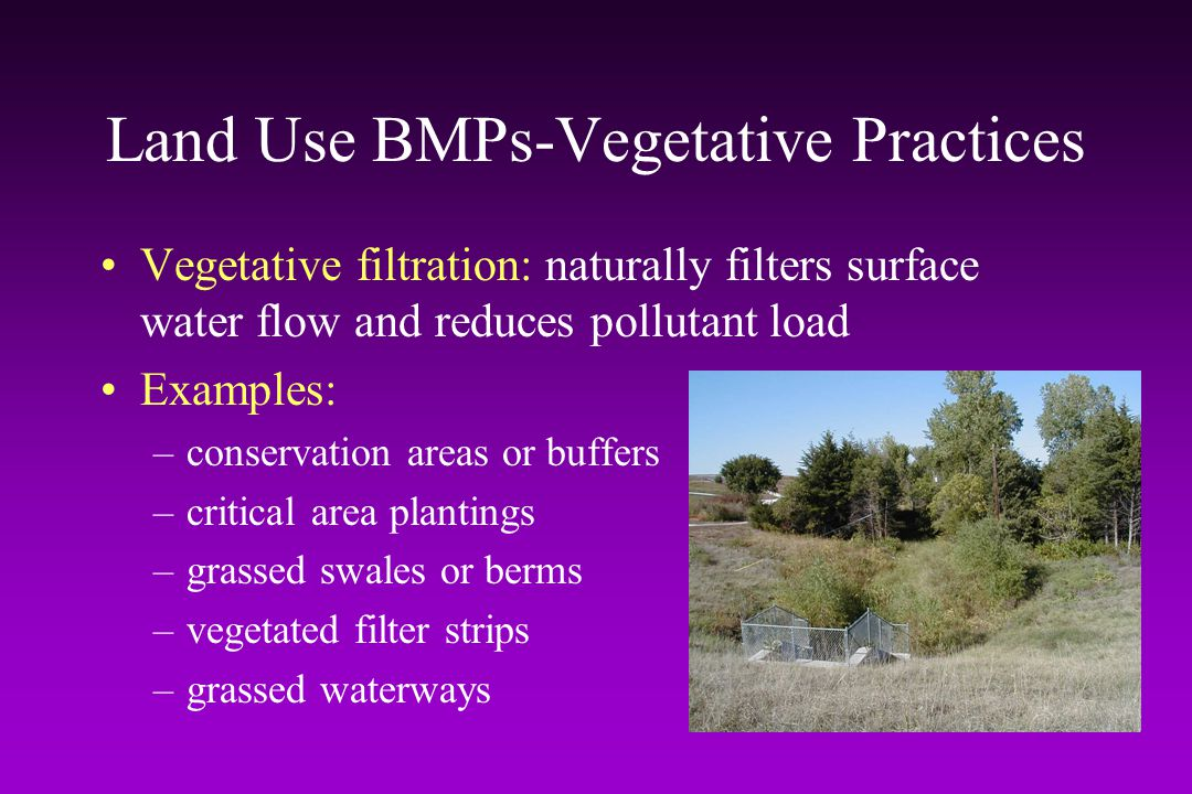 Land Use BMPs-Vegetative Practices