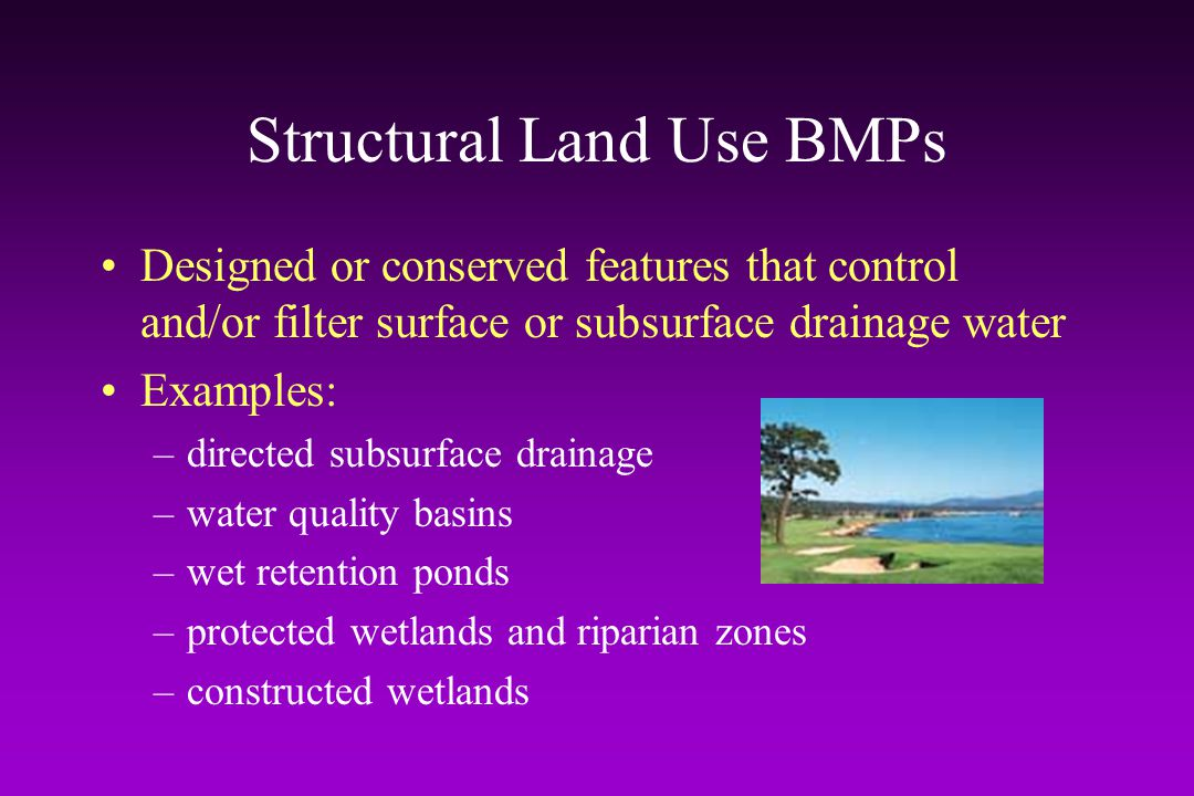 Structural Land Use BMPs
